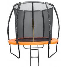 Батут DFC KENGOO II 5ft внутренней сеткой оранжевый черный 152см