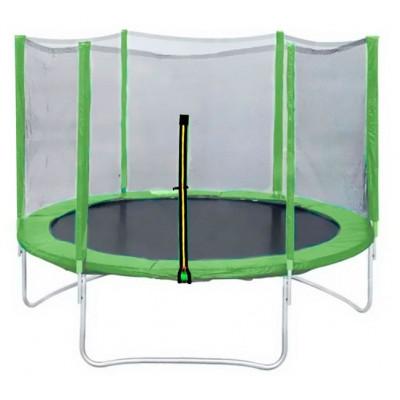 Батут DFC Trampoline Fitness 8ft с наружной сеткой светло-зеленый 244см
