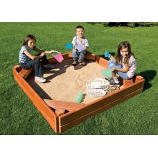 Песочница открытая Rainbow (Sandbox with Corner Seats)