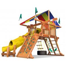 Детский игровой комплекс Rainbow Саншайн Кастл I СпейсСейвер Тент (Sunshine Castle I Spacesaver with 90 Tube Slide RYB)