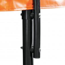 Батут DFC KENGOO II 16ft внутренней сеткой и лестницей оранжевый черный 488см два короба