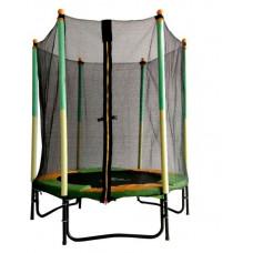 Батут DFC JUMP KIDS 55 зеленый желтый сетка 137см