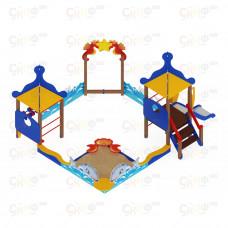 Песочный дворик Скиф Морской с горкой