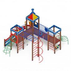 Детский игровой комплекс Скиф Волшебный город горка Н 1200