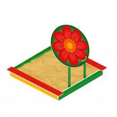 Песочница Скиф С навесом - цветок