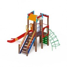 Детский игровой комплекс Скиф Замок (голубой) горка Н 1500