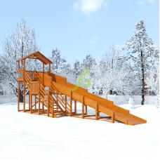 Зимняя горка IgraGrad Snow Fox Домик скат 10 м