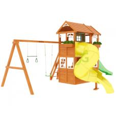 Детский игровой комплекс IgraGrad Клубный домик 2 с трубой Luxe
