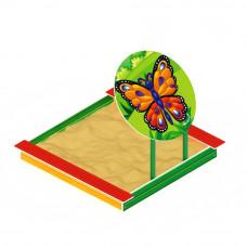 Песочница Скиф С навесом -бабочка