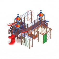 Детский игровой комплекс Скиф Волшебный город (винтовой скат) горка Н 900 горка Н 1200 горка Н 2000