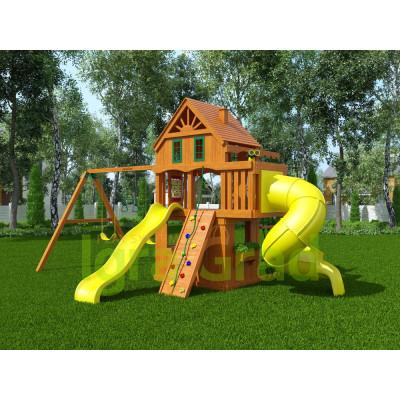 Детская игровая площадка IgraGrad Шато 2 с трубой Домик
