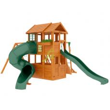 Детский игровой комплекс IgraGrad Клубный домик 2 с трубой и рукоходом