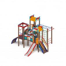 Детский игровой комплекс Скиф Замок (голубой) горка Н 1200