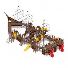 Детский игровой комплекс Скиф Баркетина (винтовой скат) горка Н 1200 горка Н 1500 горка Н 2000