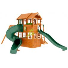 Детский игровой комплекс IgraGrad Клубный домик 2 с трубой и рукоходом Luxe