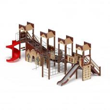 Детский игровой комплекс Скиф Замок (винтовой скат) горка Н 1500 горка Н 2000