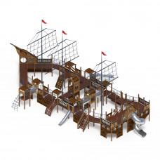 Детский игровой комплекс Скиф Баркетина (нержавейка скат) горка Н 1200 горка Н 2000