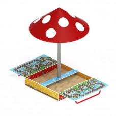 Песочница Скиф Игра с крышкой и грибком