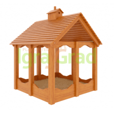 Детская деревянная песочница IgraGrad Замок