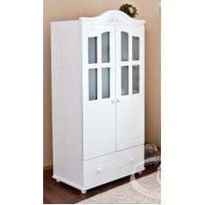 Детский двухстворчатый шкаф Можга С 536 Э белый / Слоновая кость