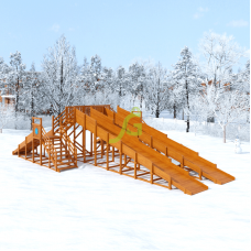 Зимняя горка IgraGrad Snow Fox 4 горки
