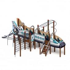 Детский игровой комплекс Скиф Аэроплан горка Н 1200