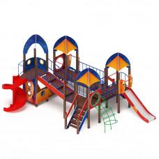 Детский игровой комплекс Скиф Космопорт (винтовой скат) горка Н 750 горка Н 1500 горка Н 2000