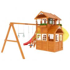 Детский игровой комплекс IgraGrad Клубный домик 3 с трубой Luxe