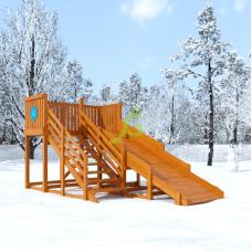 Зимняя горка IgraGrad Snow Fox скат 4 м