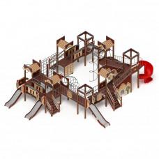 Детский игровой комплекс Скиф Замок (винтовой скат) горка Н 900 горка Н 1200 горка Н 2000