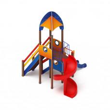 Детский игровой комплекс Скиф Космопорт (винтовой скат) горка Н 2000 горка Н 750