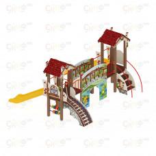 Детский игровой комплекс Скиф В гостях у сказки горка пластиковая Н900