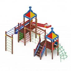 Детский игровой комплекс Скиф Волшебный город горка Н 1500