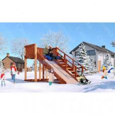 Зимняя деревянная горка Савушка Зима 3