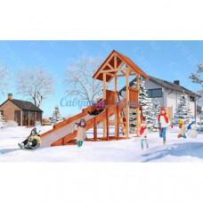 Зимняя деревянная горка Савушка Зима 5