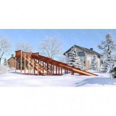 Зимняя деревянная горка Савушка Зима 8