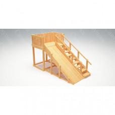 Зимняя деревянная горка Савушка Зима wood 3