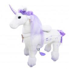 Механическая лошадка PonyCycle средний Единорог премиум