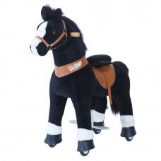 Механическая лошадка PonyCycle малая Лошадка черная озвученная