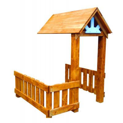 Деревянная веранда Можга для солнечого домика
