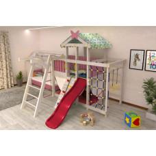 Домашний игровой комплекс чердак - кровать ДК2Р Розовый
