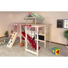 Домашний игровой комплекс чердак - кровать ДК3Р Розовый