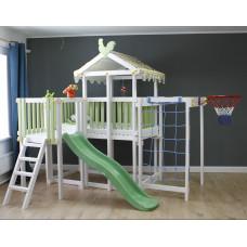 Домашний игровой комплекс чердак - кровать ДК5Б Бирюзовый