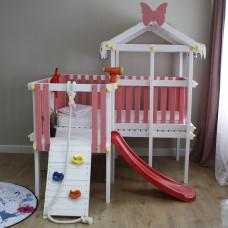 Домашний игровой комплекс чердак - кровать ДК8Р Розовый
