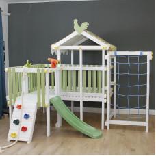 Домашний игровой комплекс чердак - кровать ДК9Б Бирюзовый
