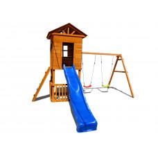 Детский игровой комплекс Можга СГ-И-Р923 Спортивный городок Избушка с узким скалодромом