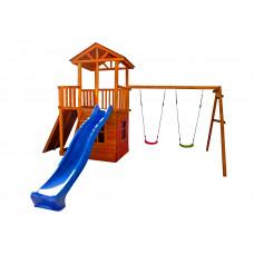 Детский игровой комплекс Можга СГ5-Р912-Р946-Д Спортивный  городок 5 с качелями, домиком и балконом