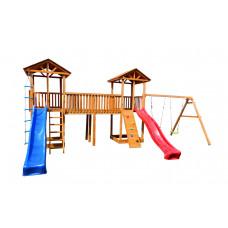 Детский игровой комплекс Можга СГ6-Р912-Р922 Спортивный  городок 6 с качелями и узким скалодромом