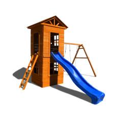Детский игровой комплекс Можга СГ8-Р918 Спортивный  городок 8 c узкой лестницей
