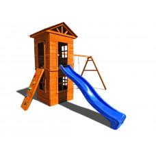 Детский игровой комплекс Можга СГ8-Р922 Спортивный  городок 8 c узким скалодромом